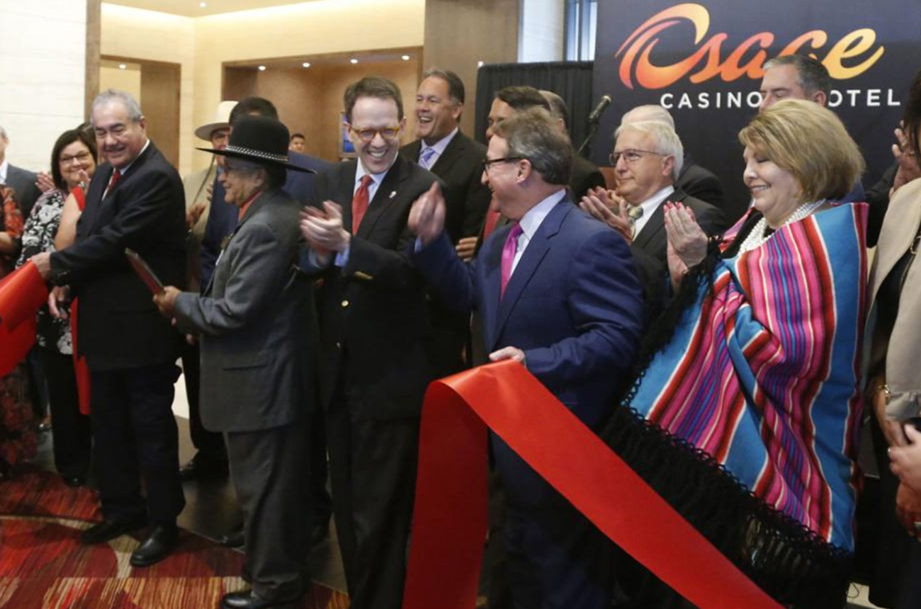 Ribbon cutting for the new Osage Casino Hotel Tulsa