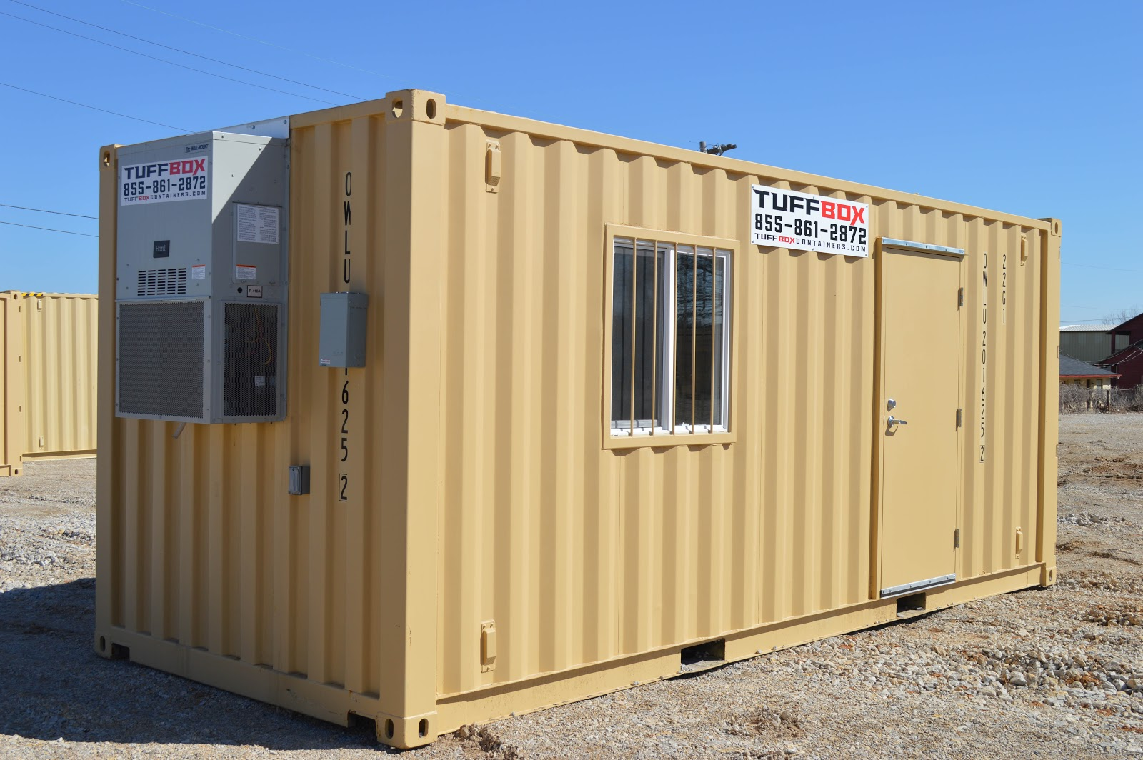 20-foot mobile office built out of a shipping container