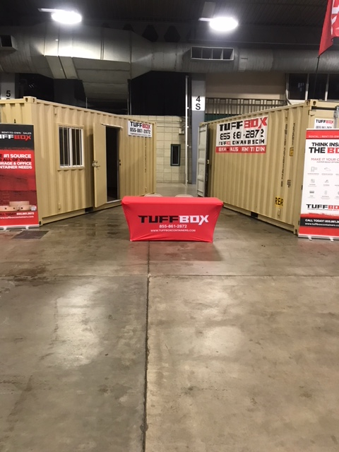shipping container trade show display booth
