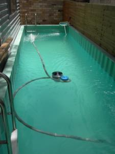 in-ground swimming pool made from a 20-foot shipping container