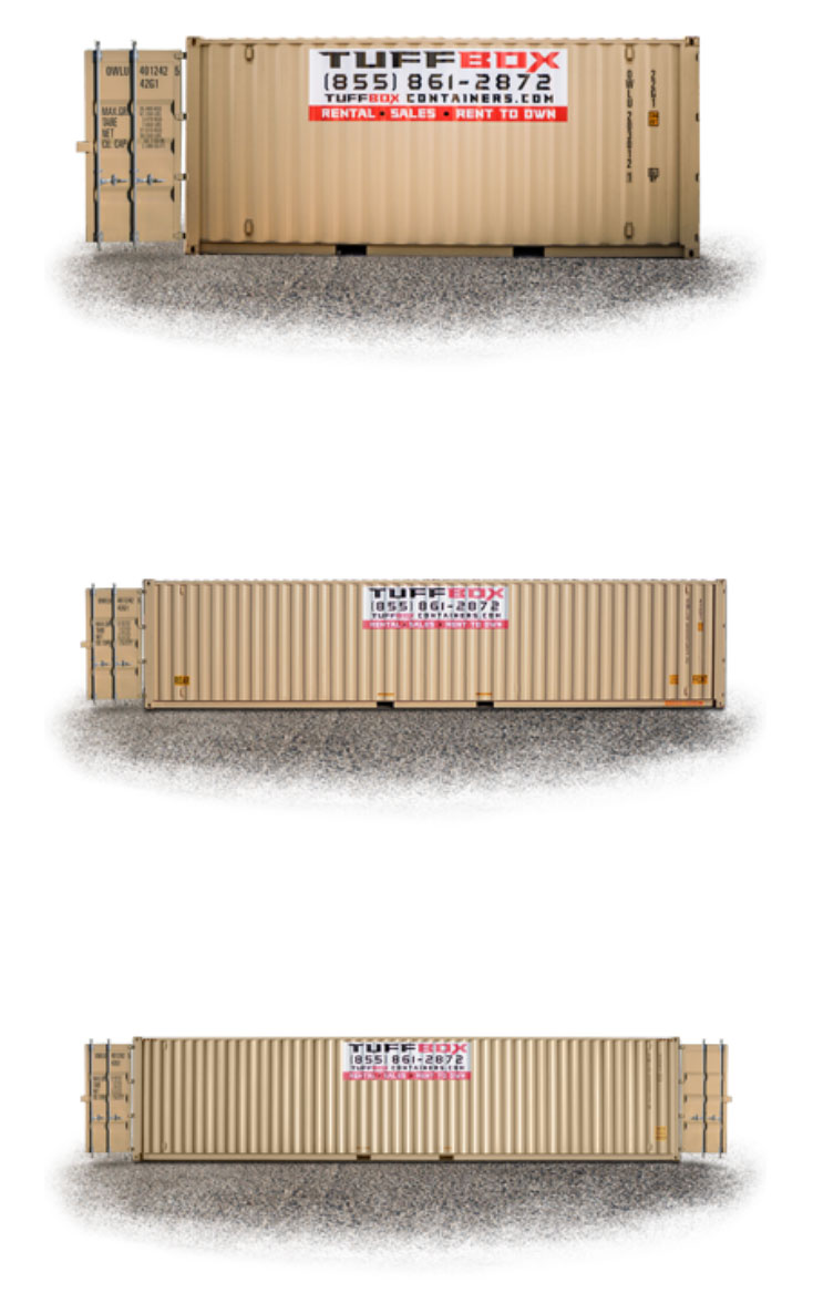 20-foot and 40-foot Tuff Box storage containers