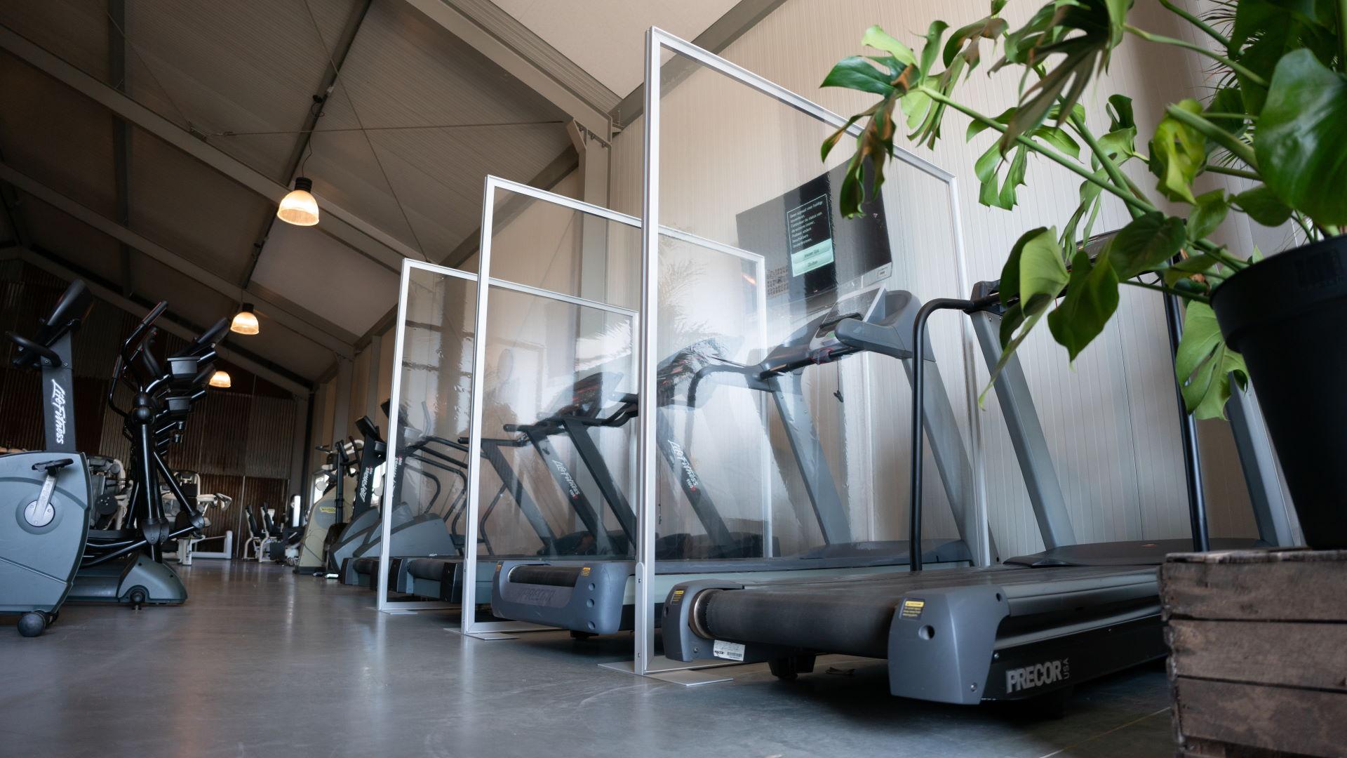 Corona schermen voor sportscholen en fitnesscentra