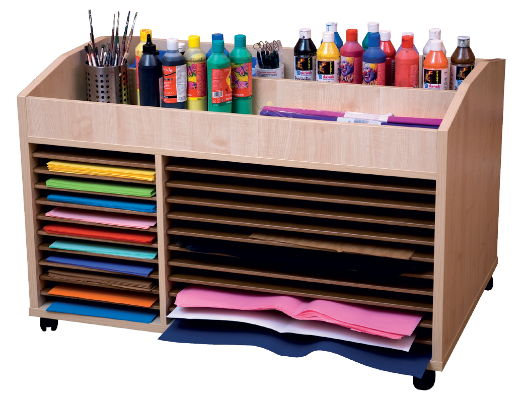 Organized stationery.