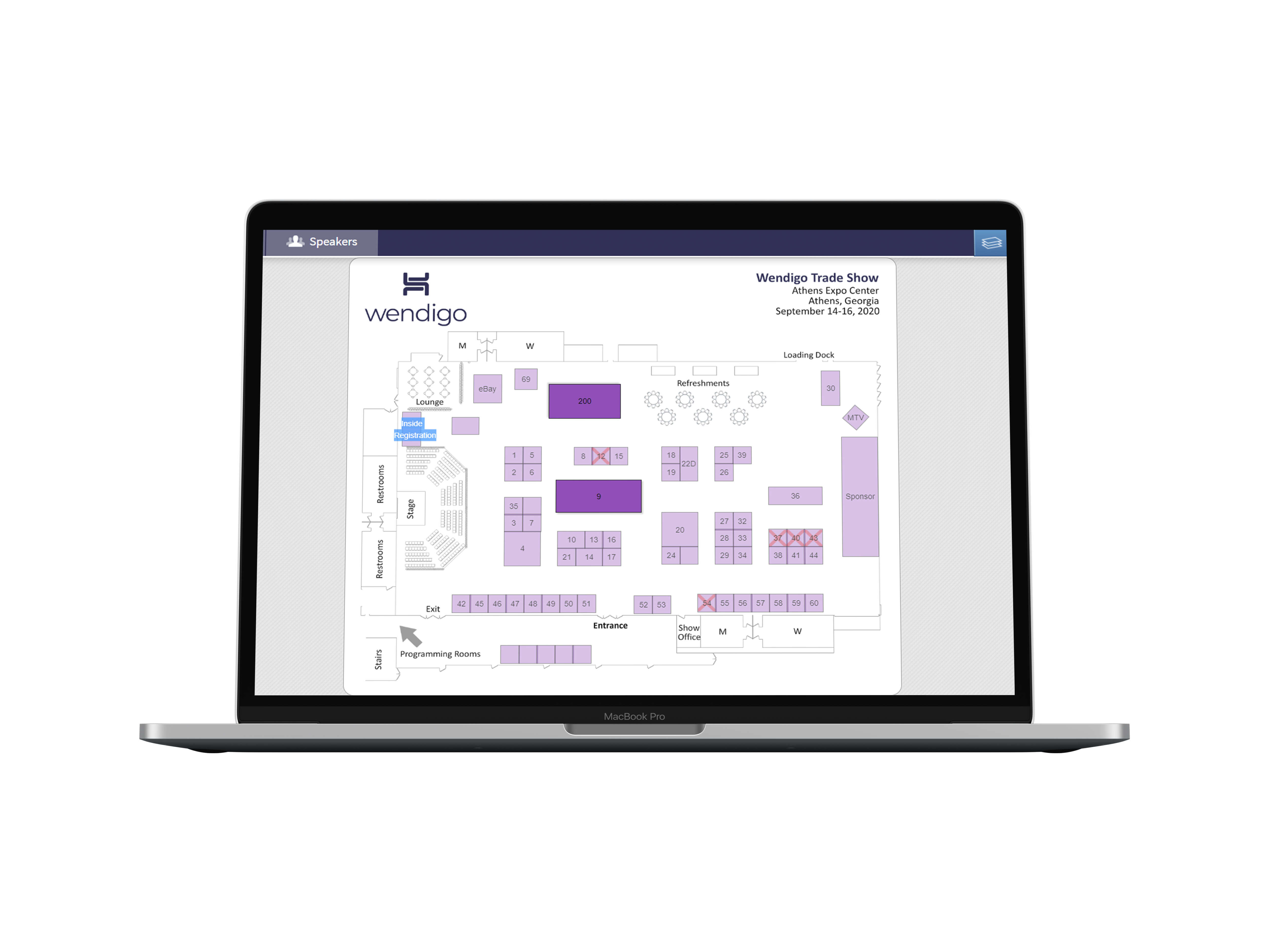 Wendigo Floorplan on a Desktop Screen
