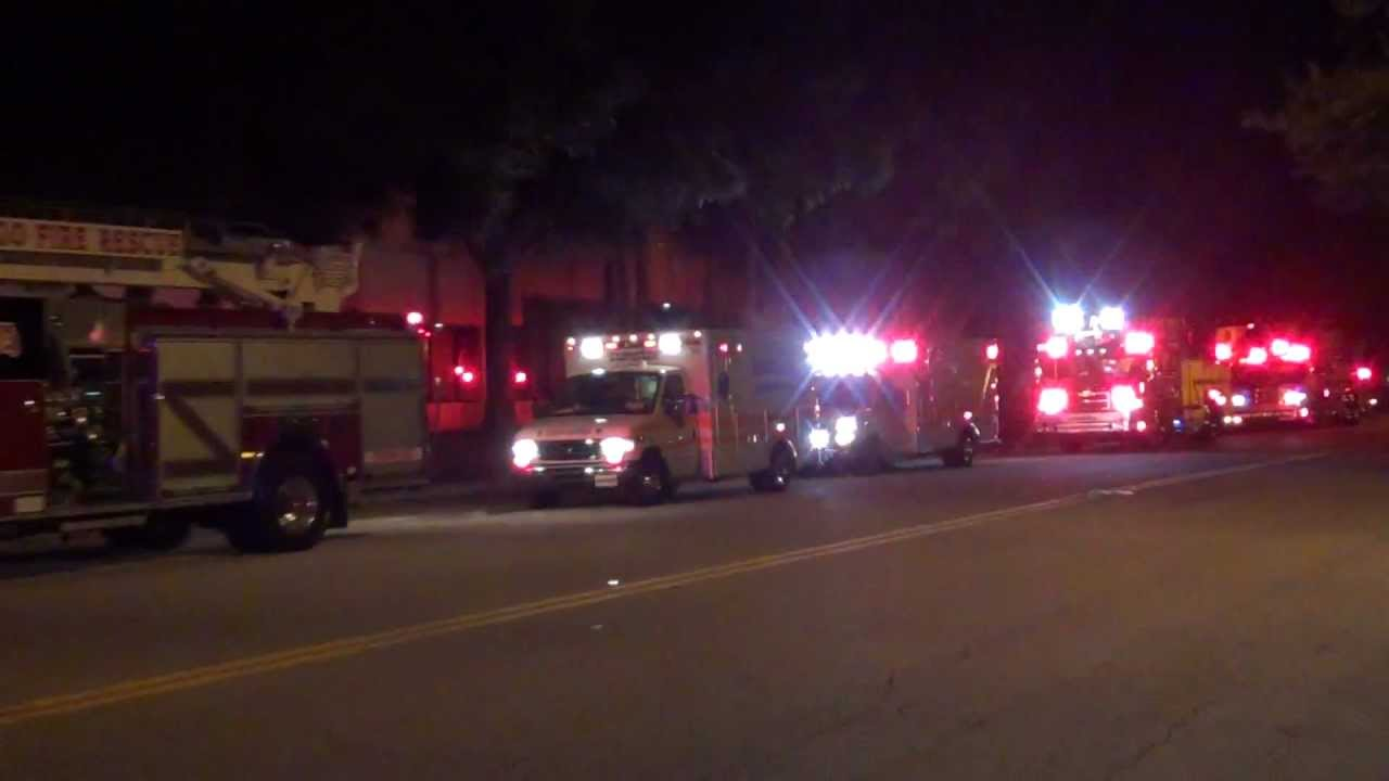 LOTS OF SUNSTAR AMBULANCES FIRE TRUCKS LARGO FIRE RESCUE PINELLAS ...