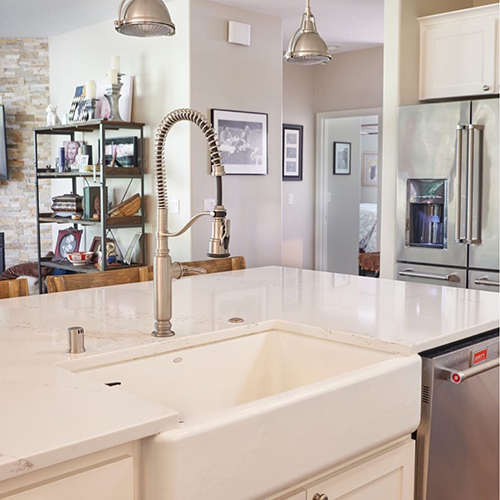 beautiful new sink and faucet remodel in a vancouver wa kitchen