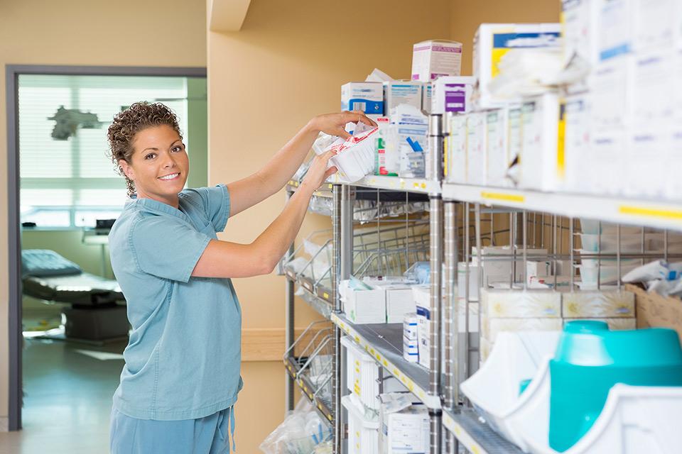 Medical tech stocking supplies
