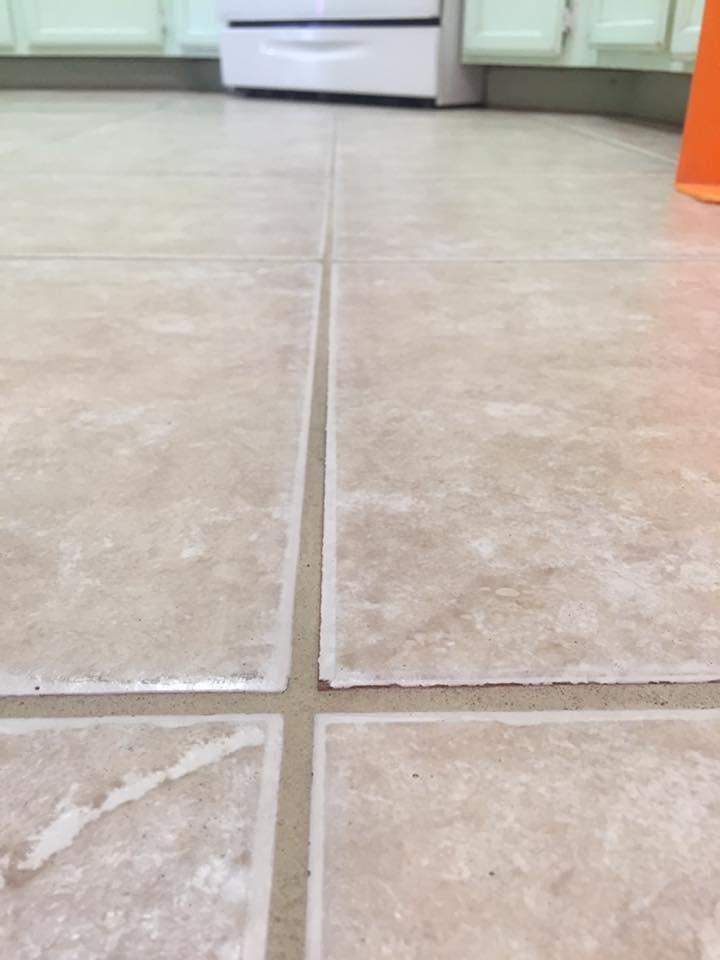 Tiles after our deep cleaning service