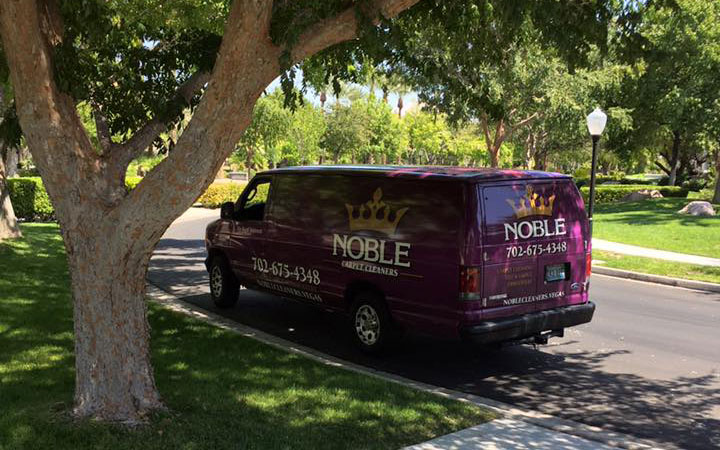 Noble Carpet Cleaners Van