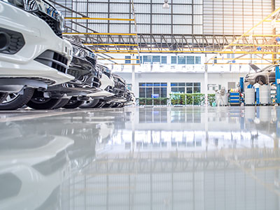 We clean epoxy coated garage floors