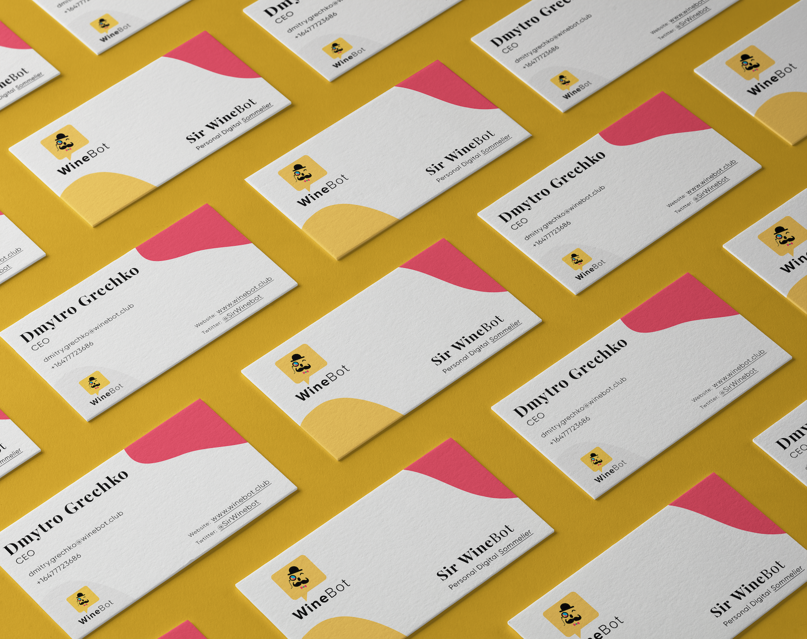 Sir WineBot Branded Business Cards