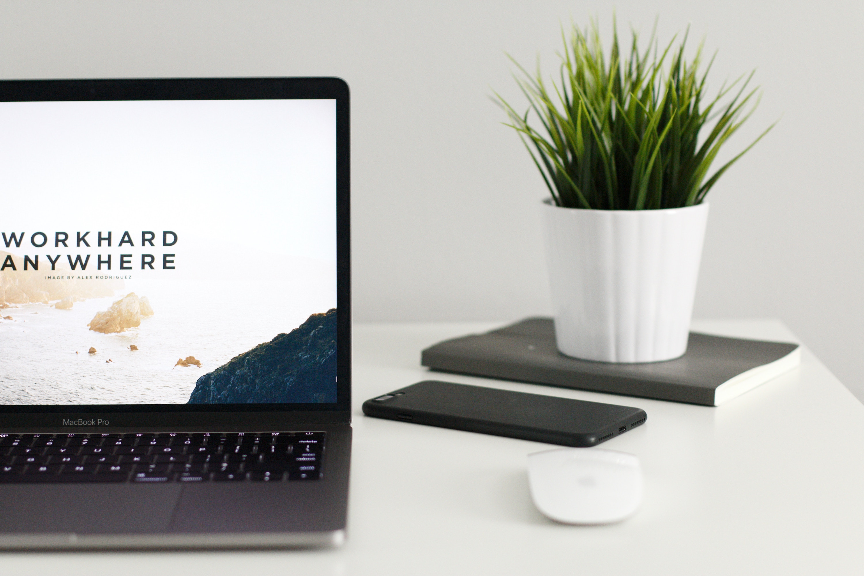 Website design on a computer