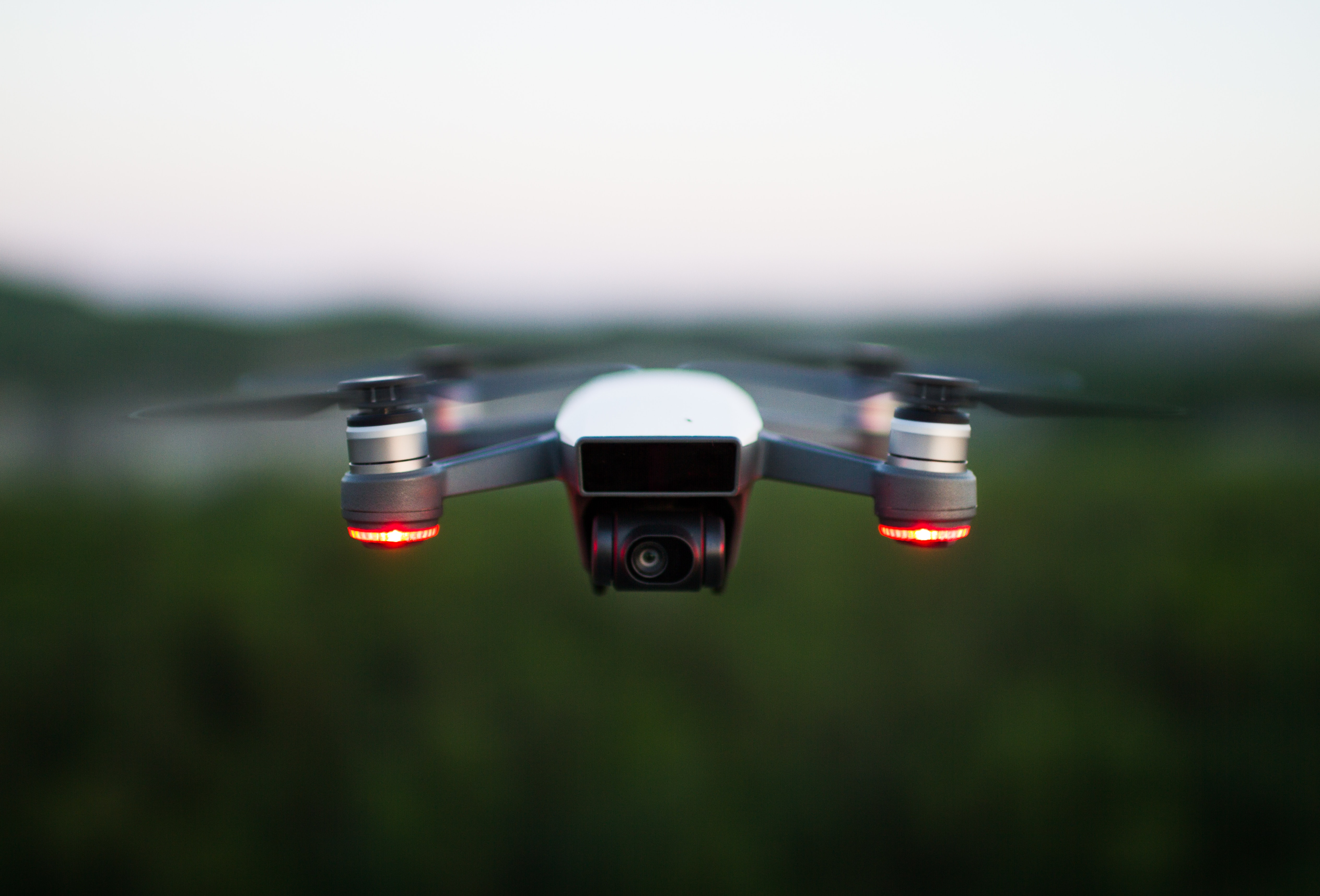 a four rotor drone