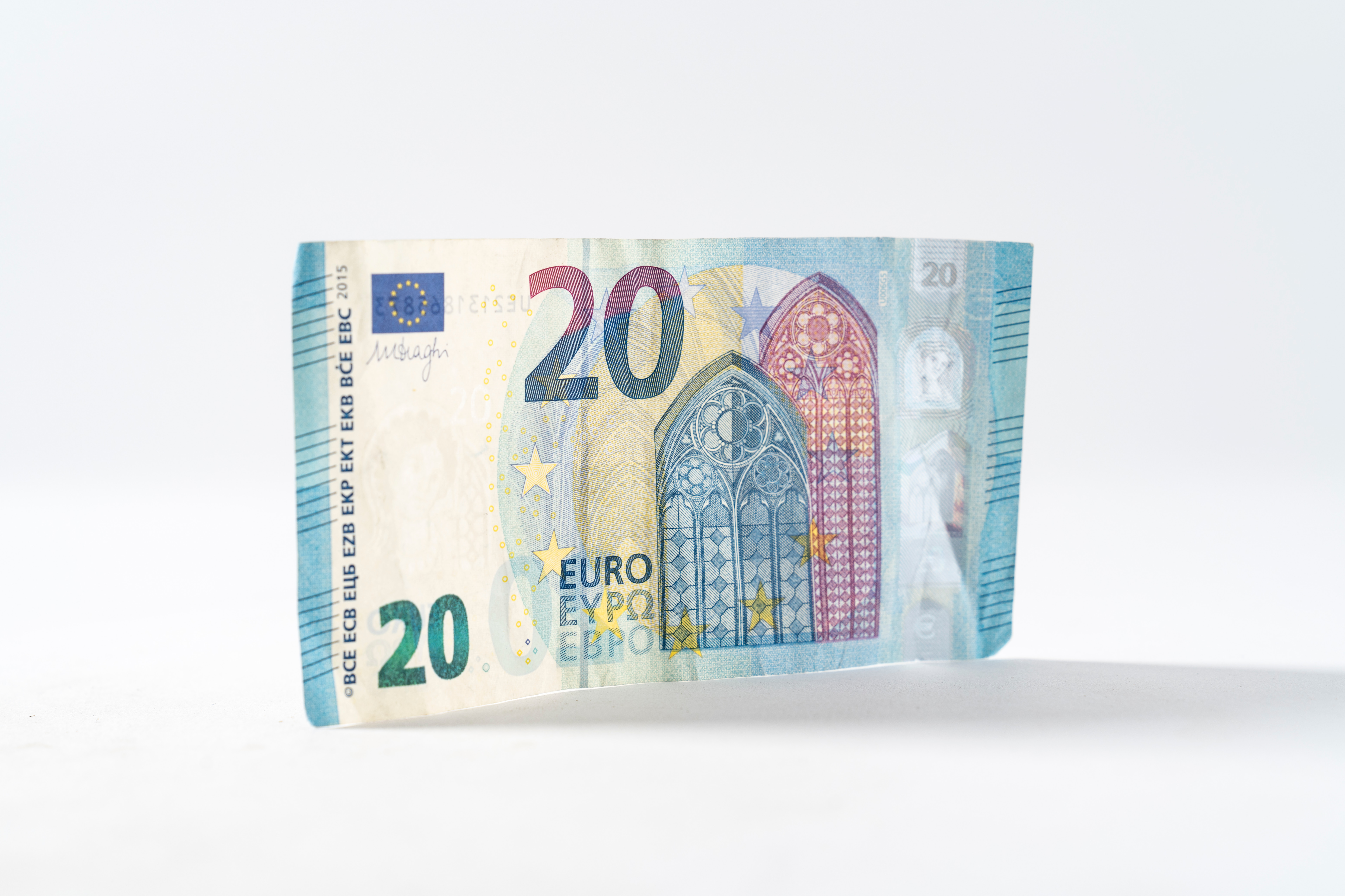 a 20 Euro note