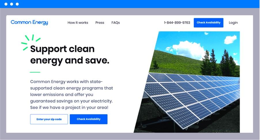 savings with clean energy