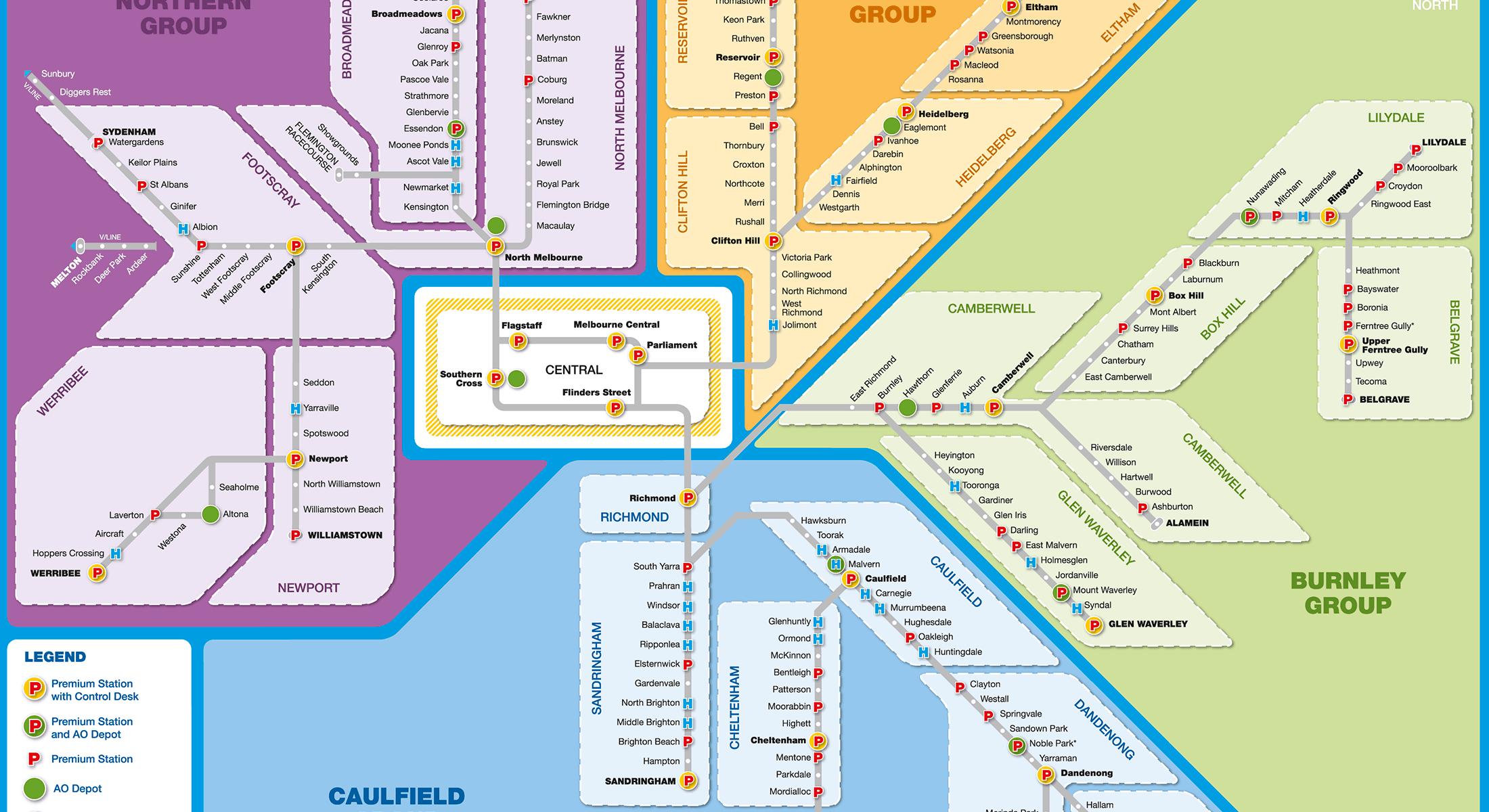 Metro Corridor Map