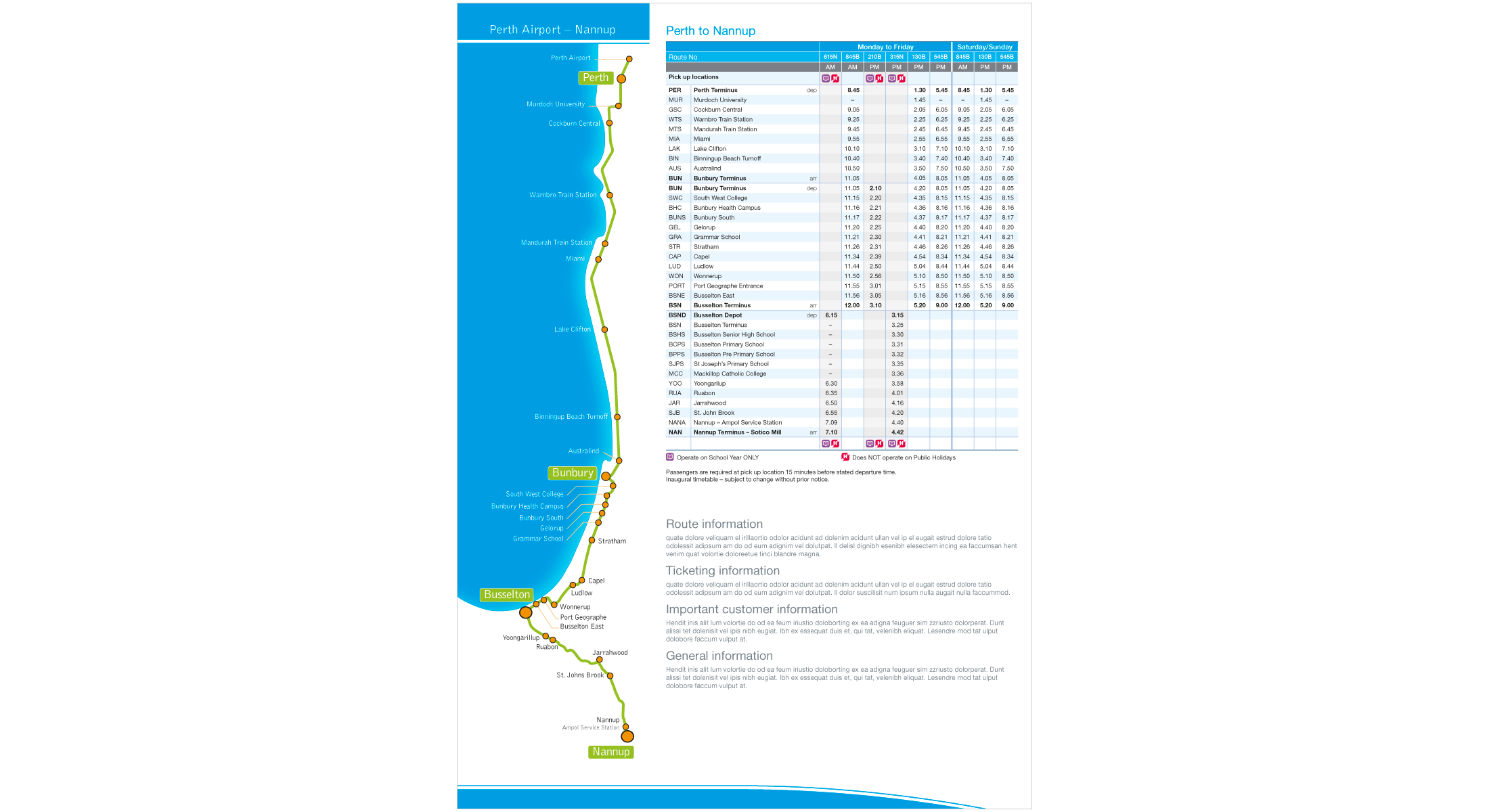 Bus Fold-out Map