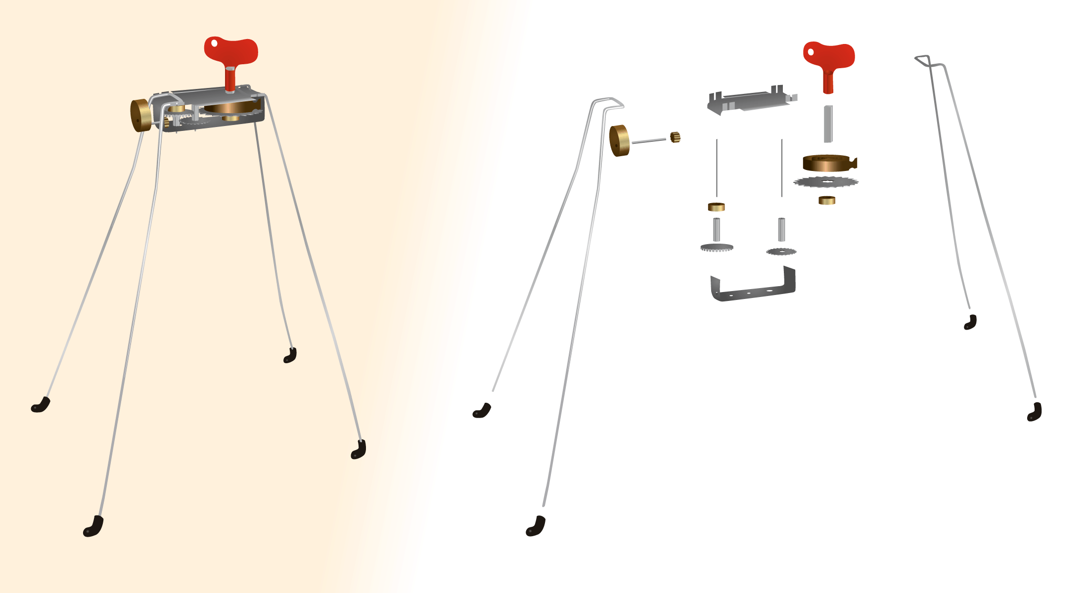 Mechanical Toy Exploded View