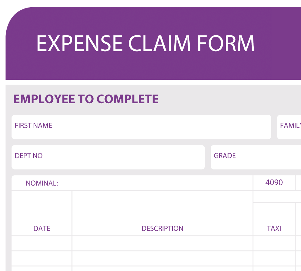 Interactive Expense Form