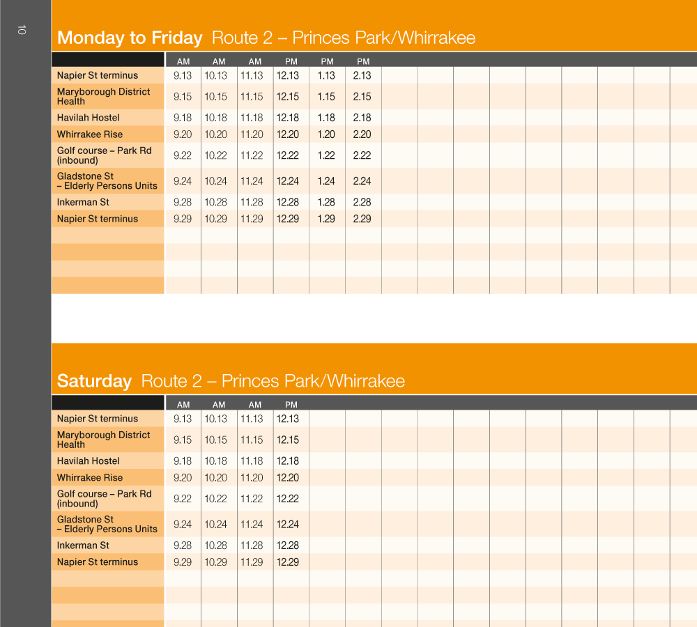 Viclink Bus Timetables DL Booklets