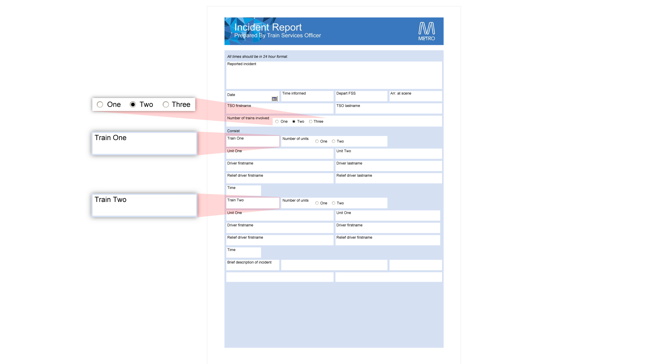 Interactive Reporting Form