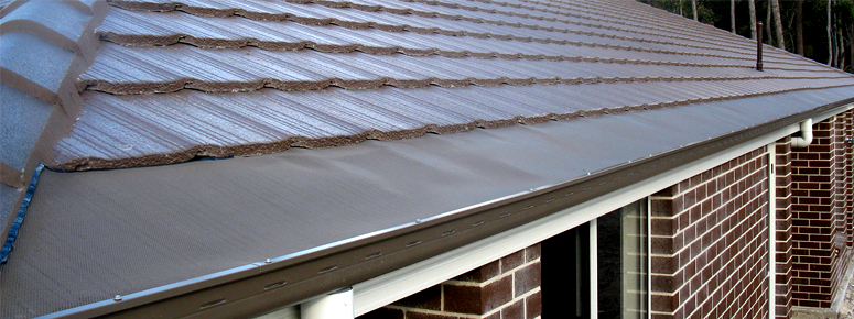 Metal roof and with Karben gutter mesh