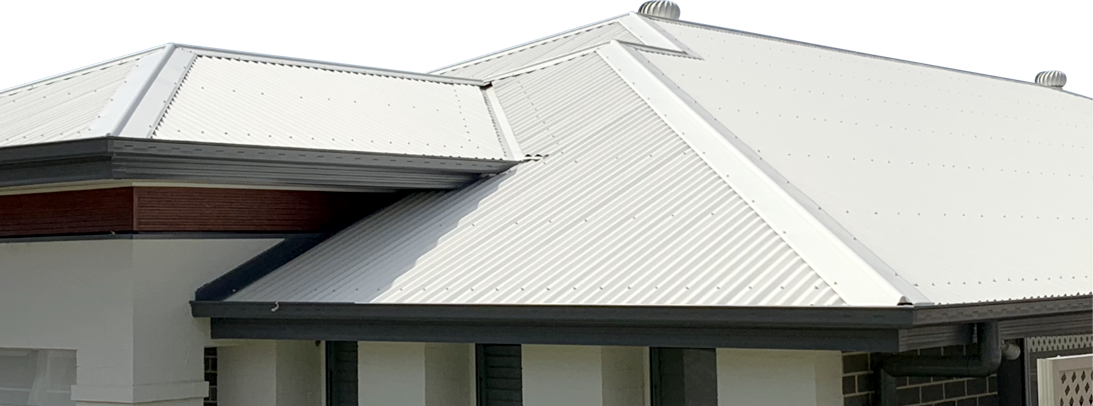 Metal roof on home