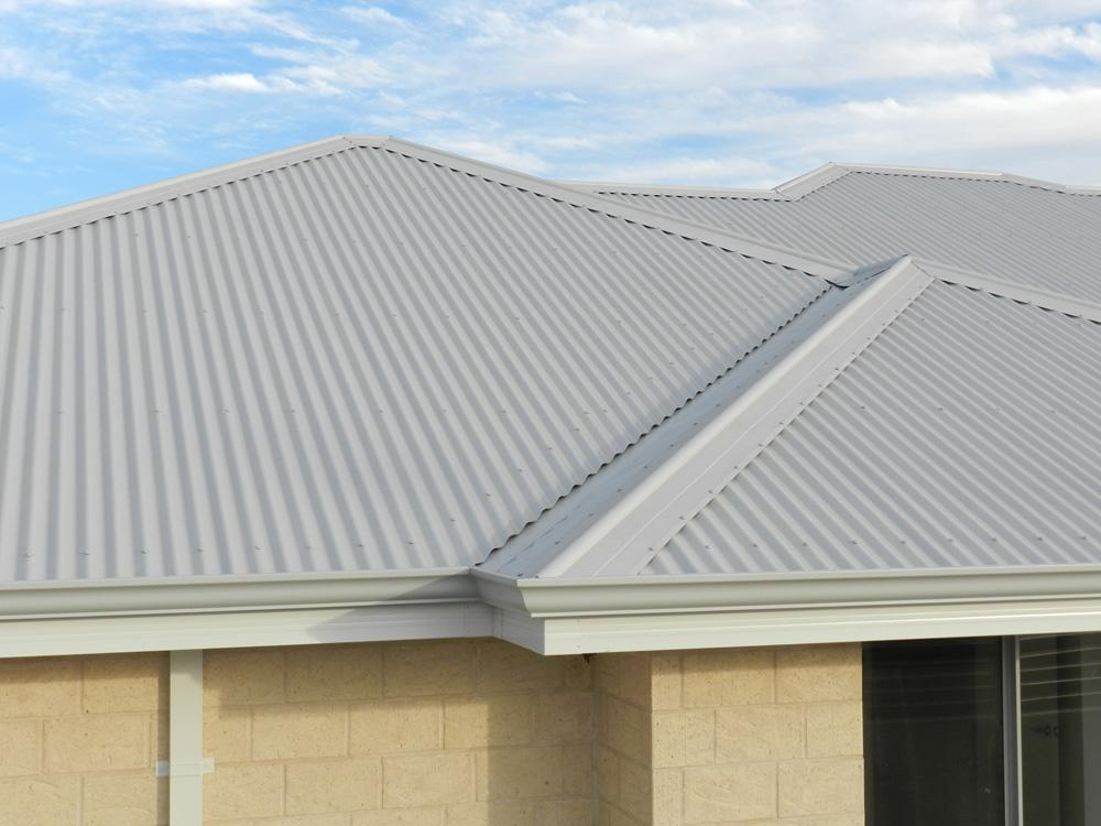 Colorbond steel metal roofing on a home