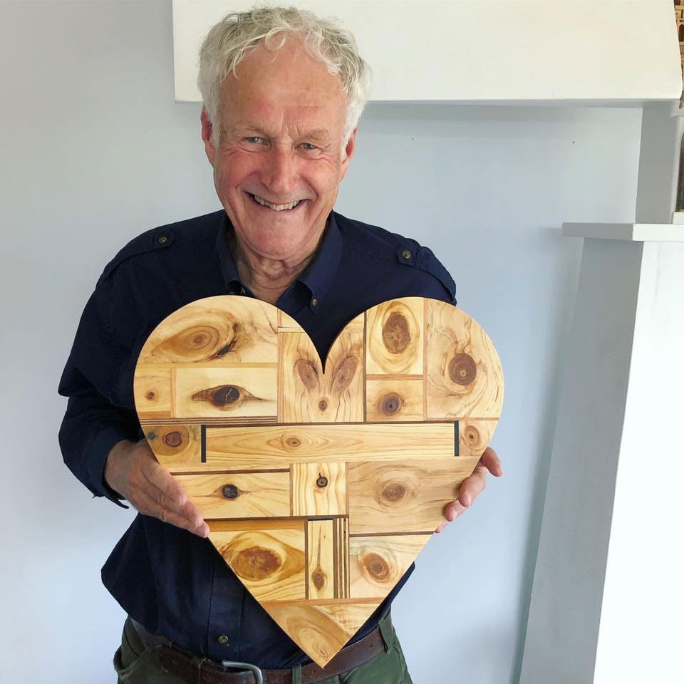 Jon with a wooden heart