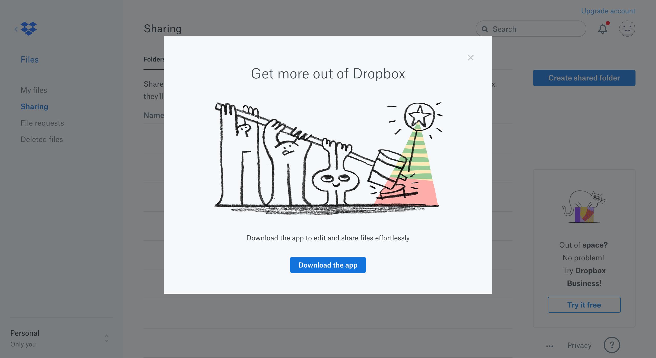 Dropbox's Contextual App-Download Prompts