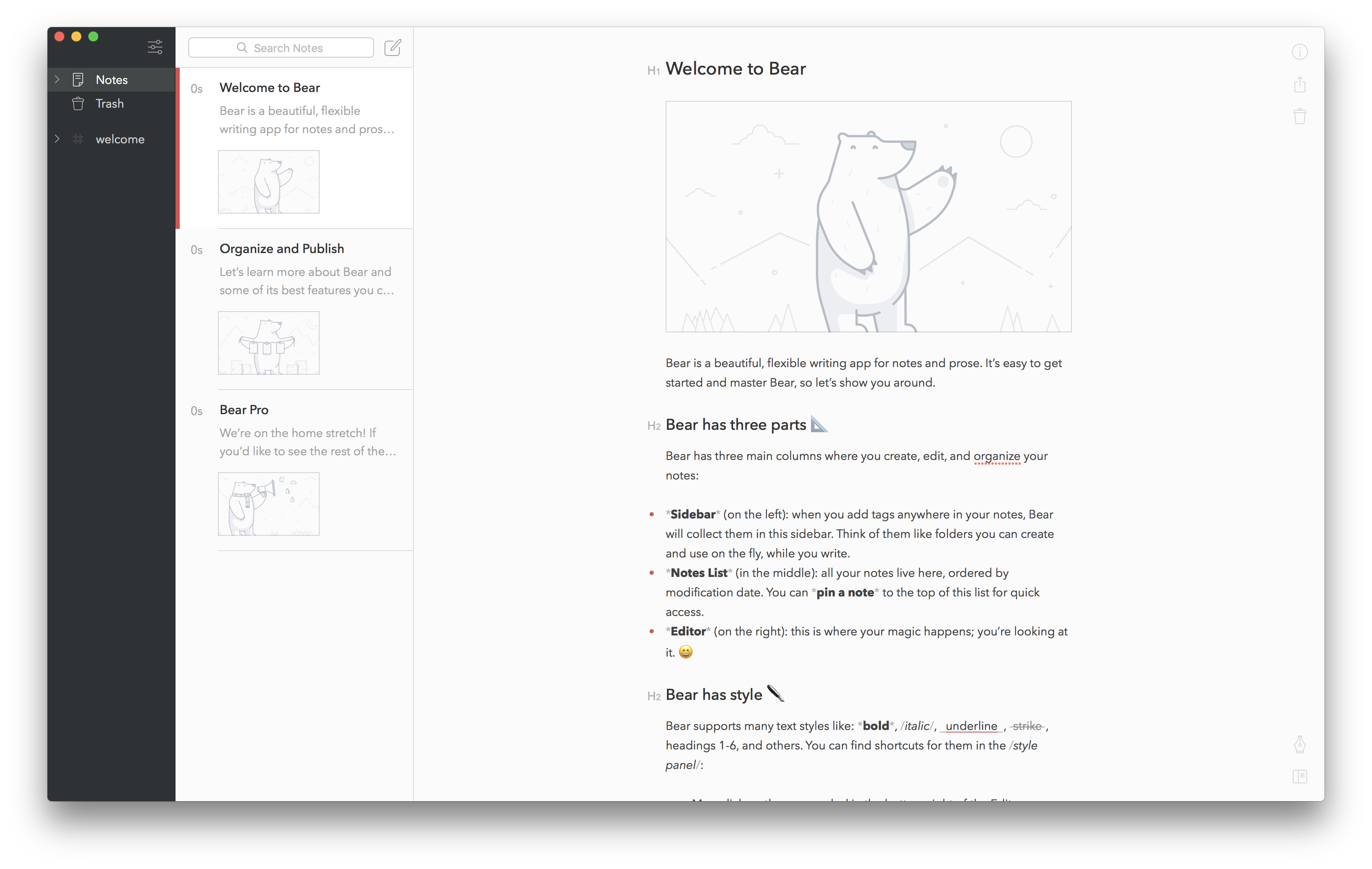 Bear's Self-Paced Onboarding