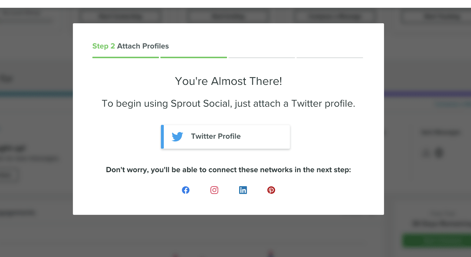 sprout social connecting twitter account user onboarding step required social account authorization