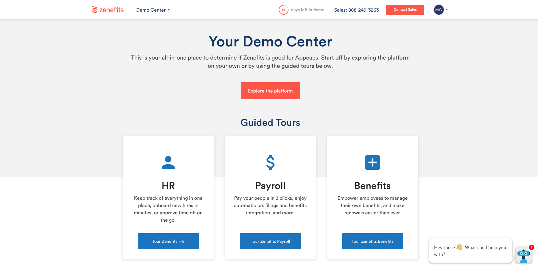 free product self service demo environment user onboarding