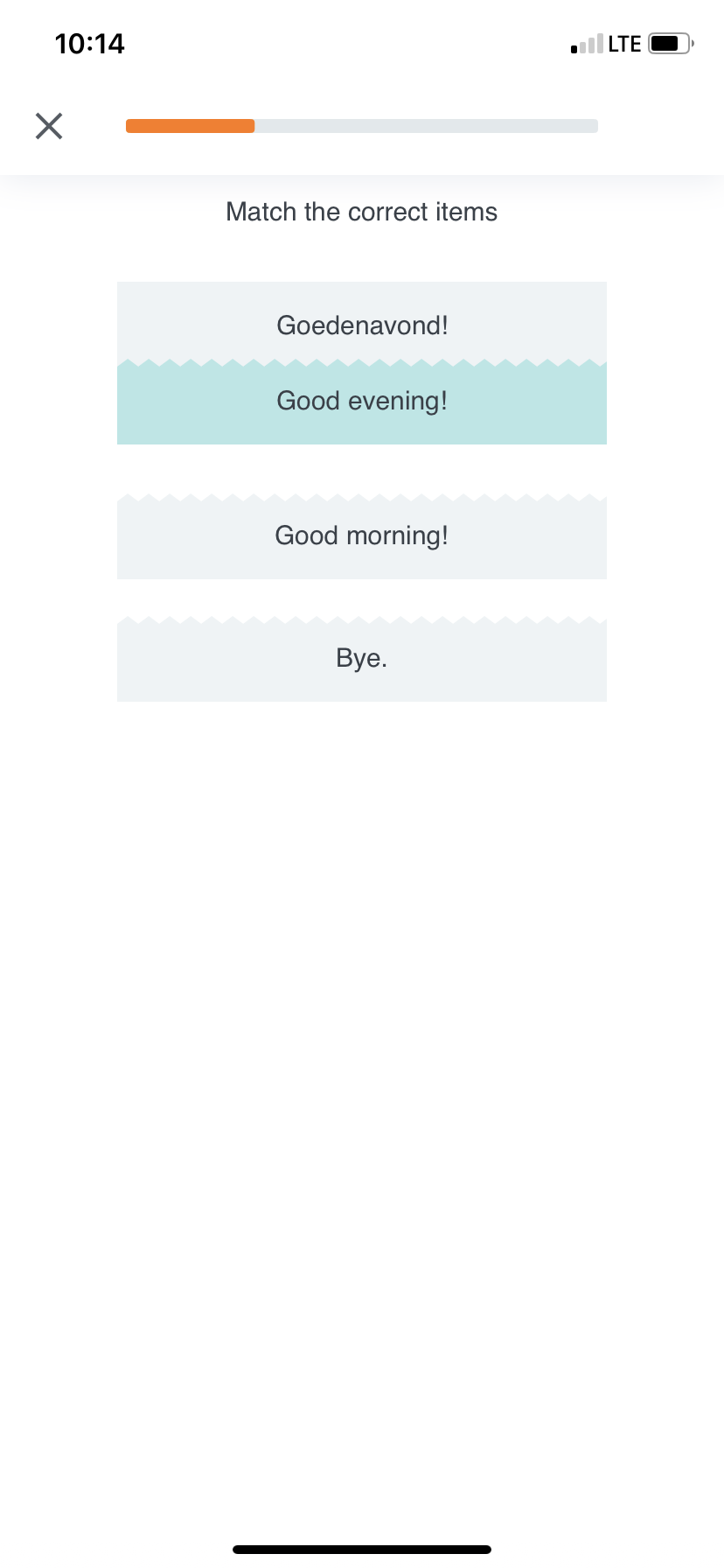 babbel app user onboarding mobile sample language lesson 2