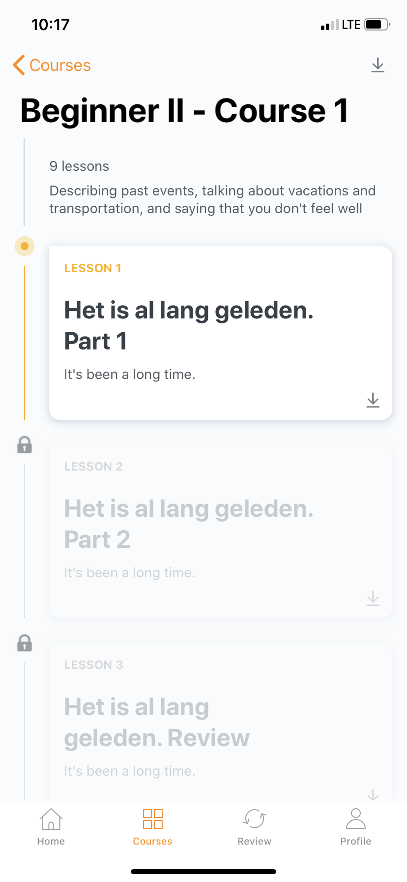 babbel app user onboarding beginner course