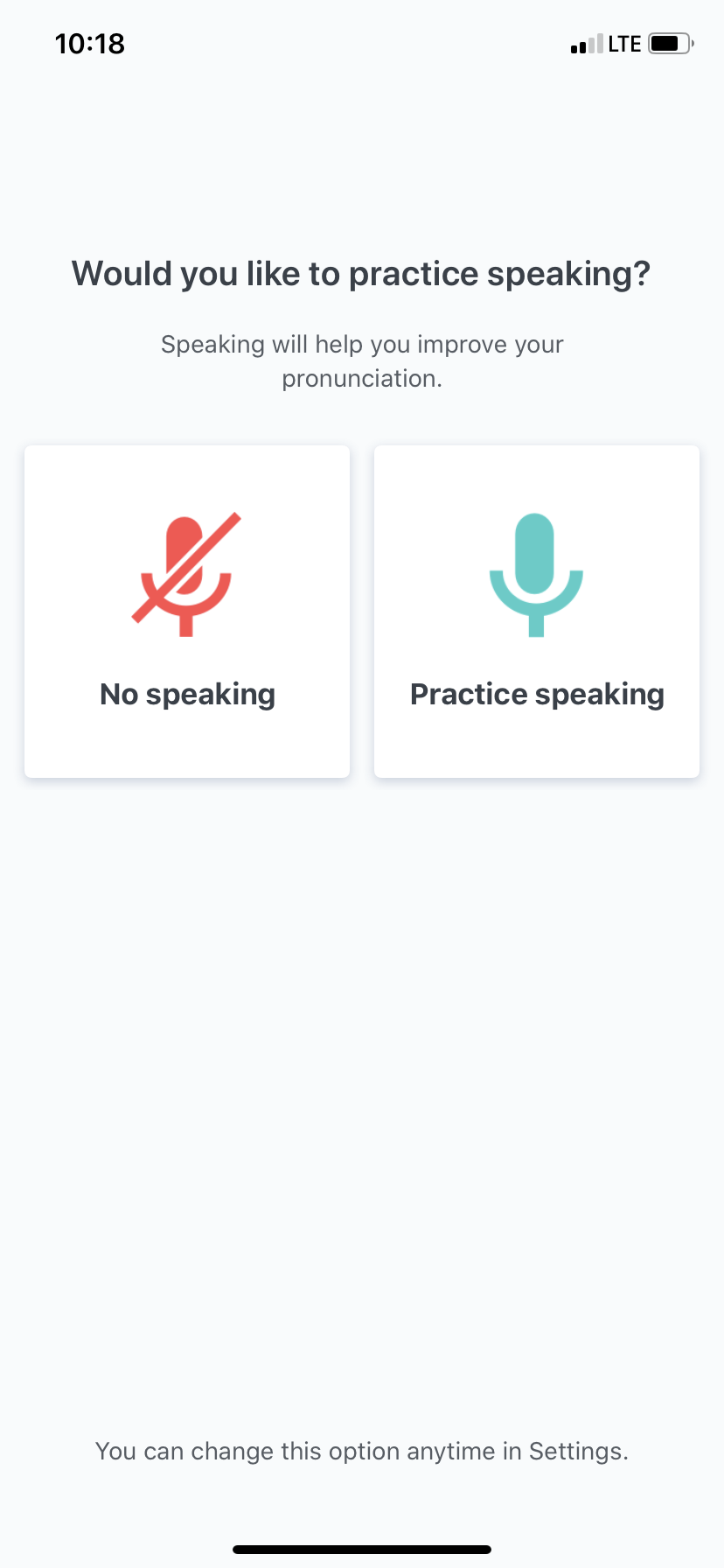 babbel app user onboarding mobile microphone access request permission priming