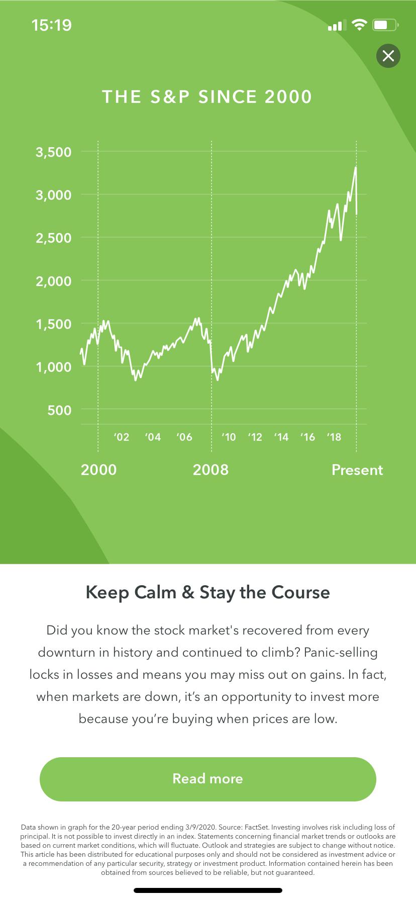 acorns mobile app s&p index financial education
