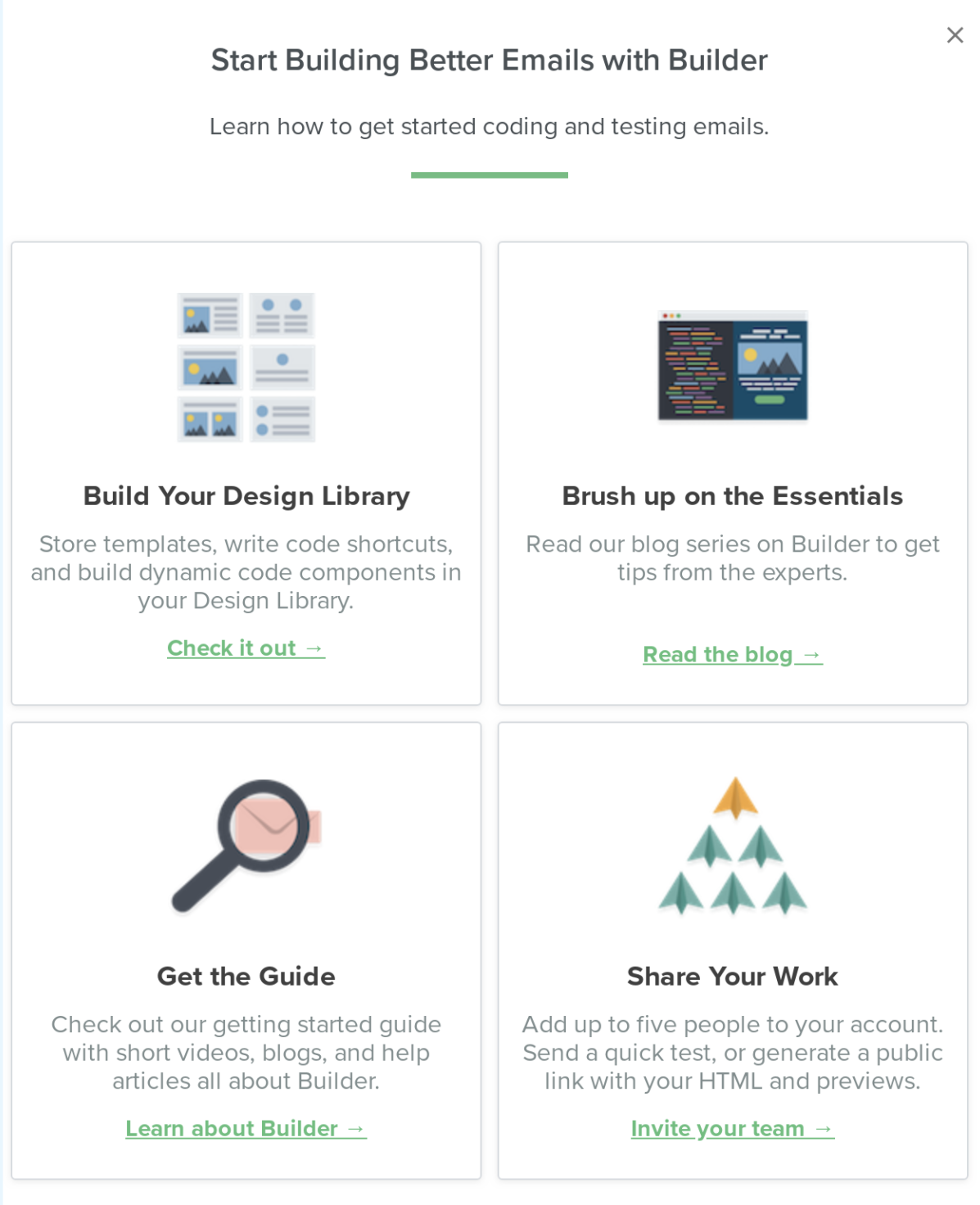 litmus slideout made with appcues. in-app user onboarding resource center example