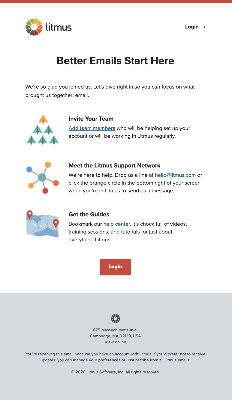 litmus onboarding email