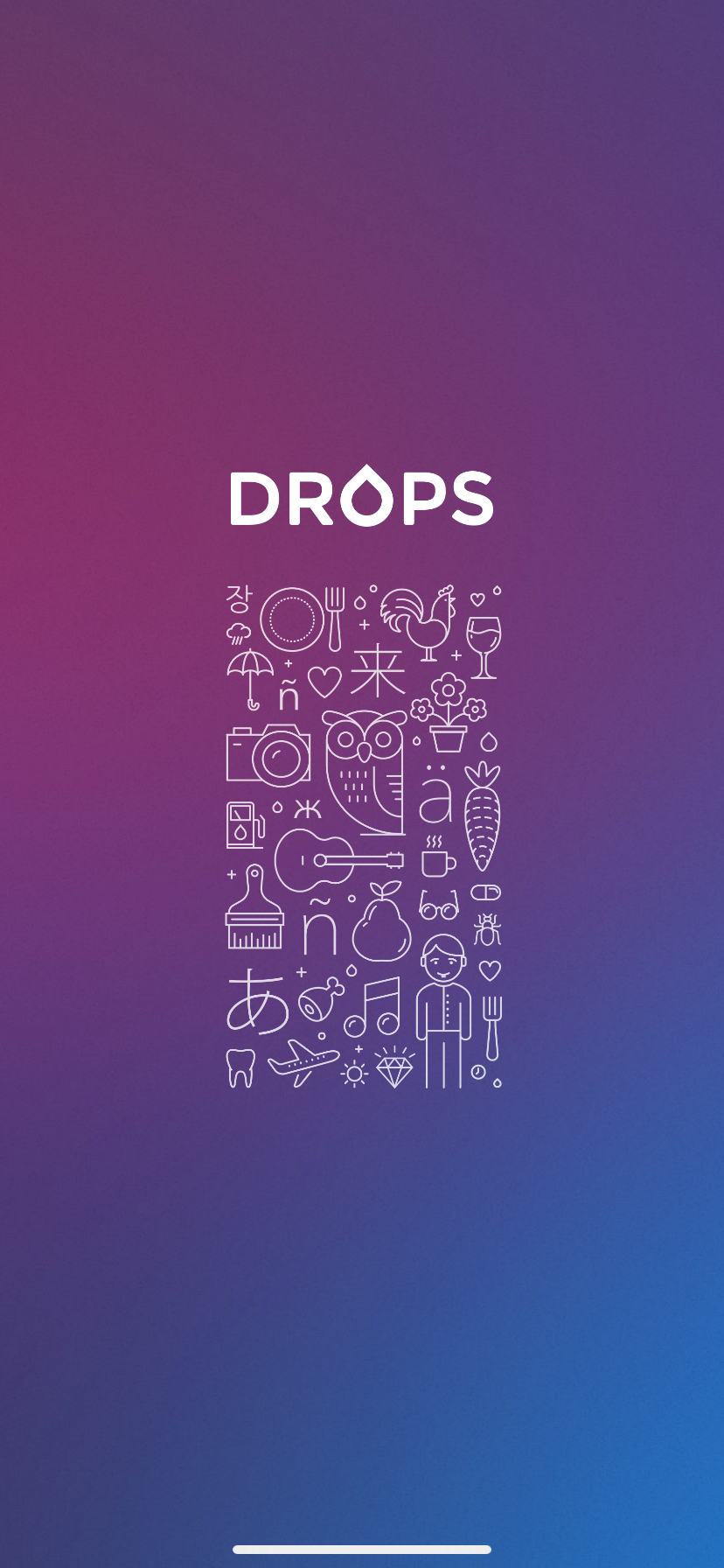 drops language learning app ux screenshot 1