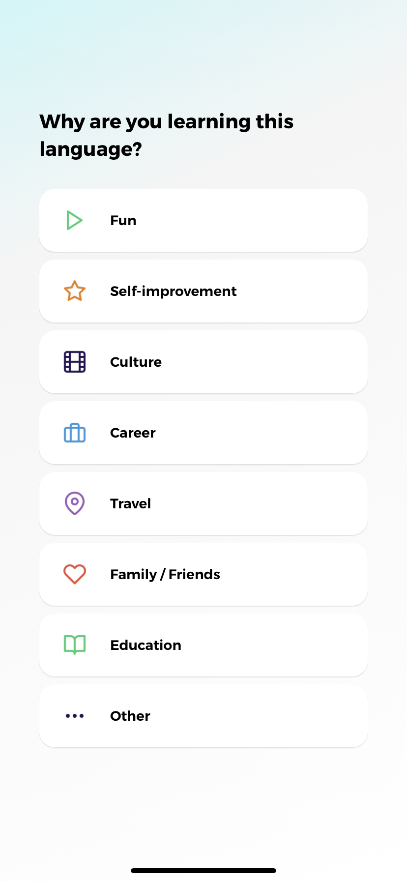 drops language learning app ux screenshot 3 personalization