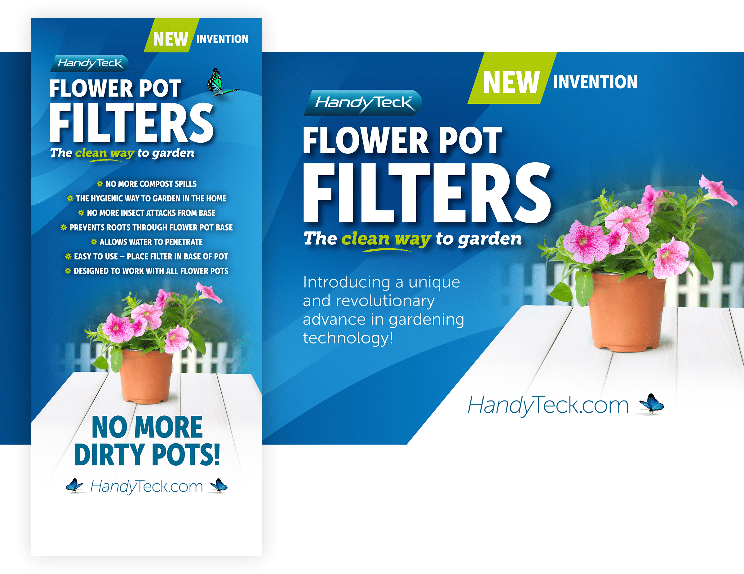 HandyTeck Flower Pot Filters Point of Sale