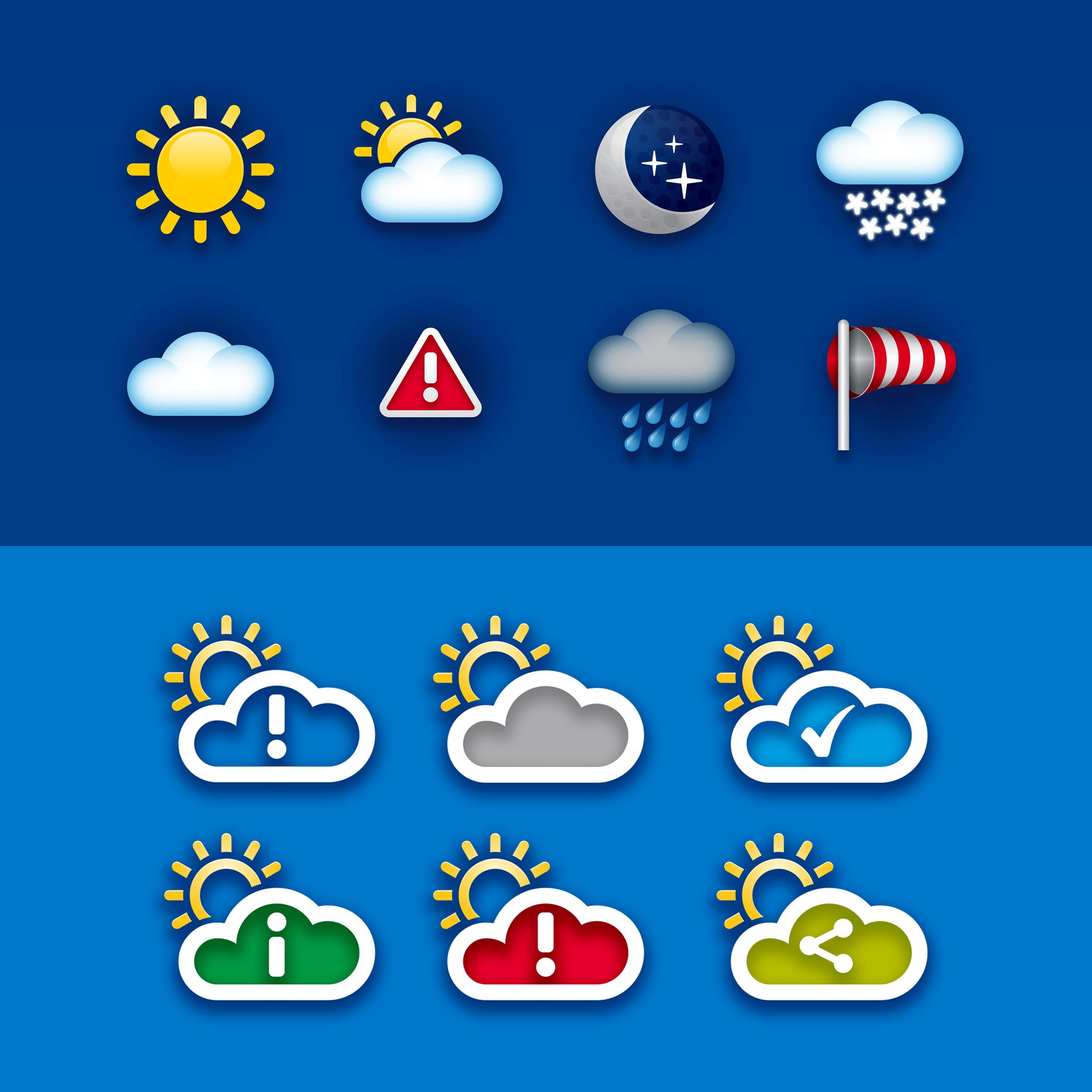 Allianz WeatherSafe Iconography