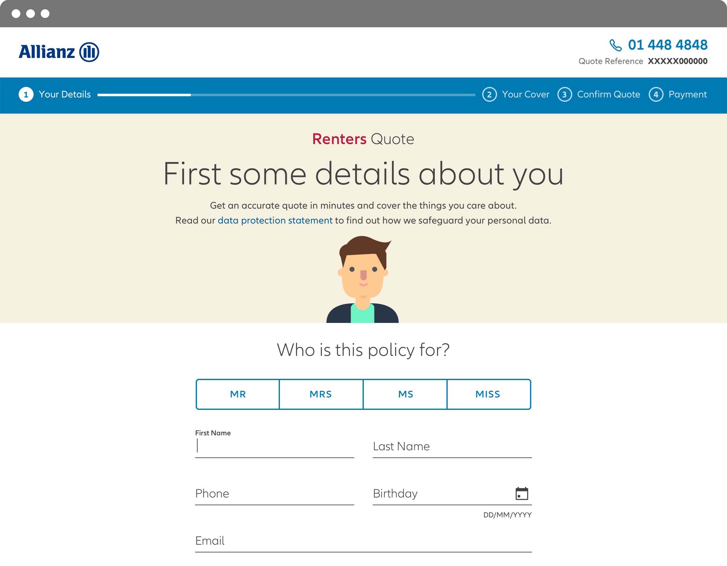 Website design - Quote Apps