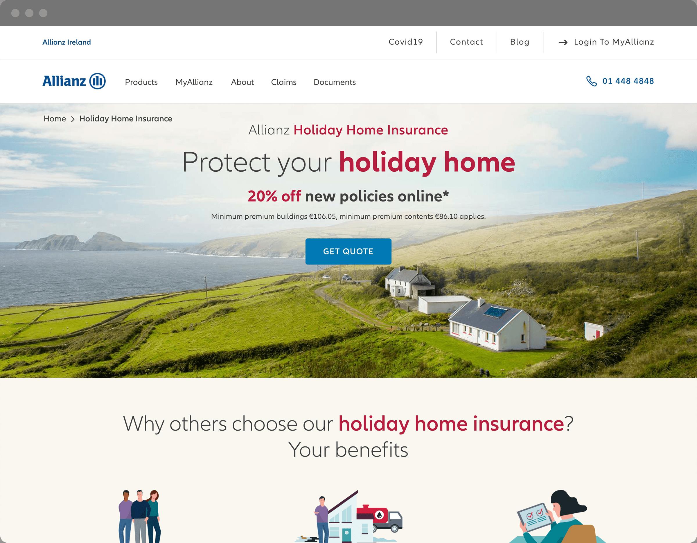 Allianz Ireland website design