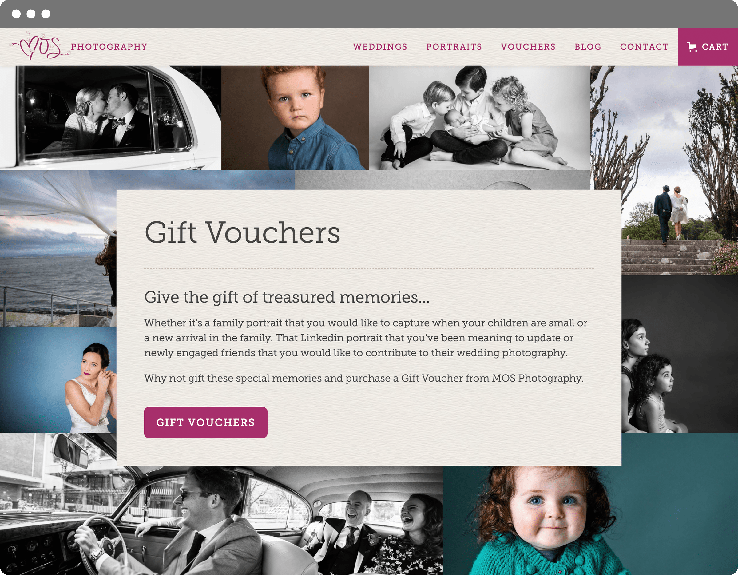 Gift Vouchers Featuring Photo Grid