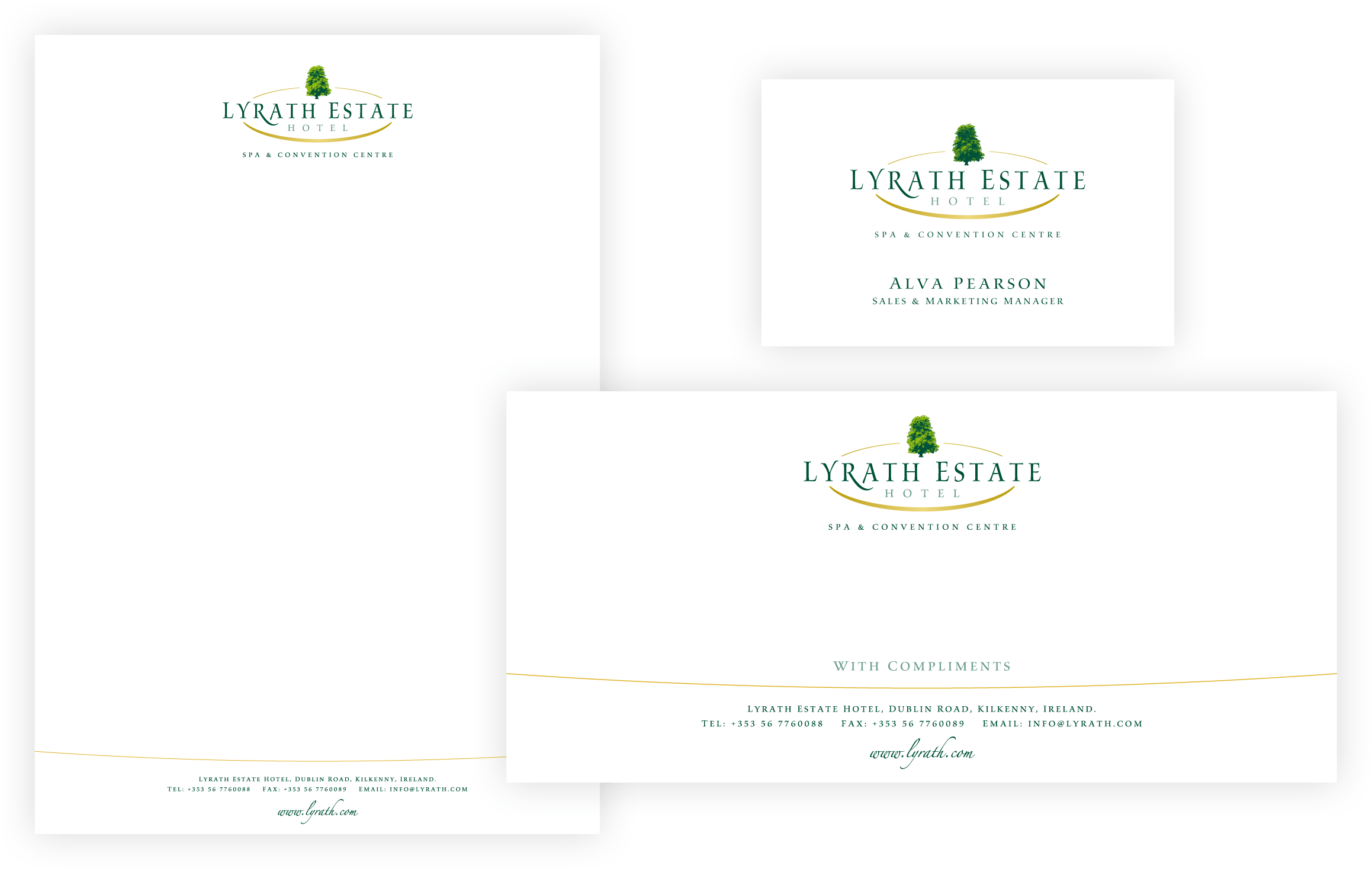Lyrath Estate Stationery Suite