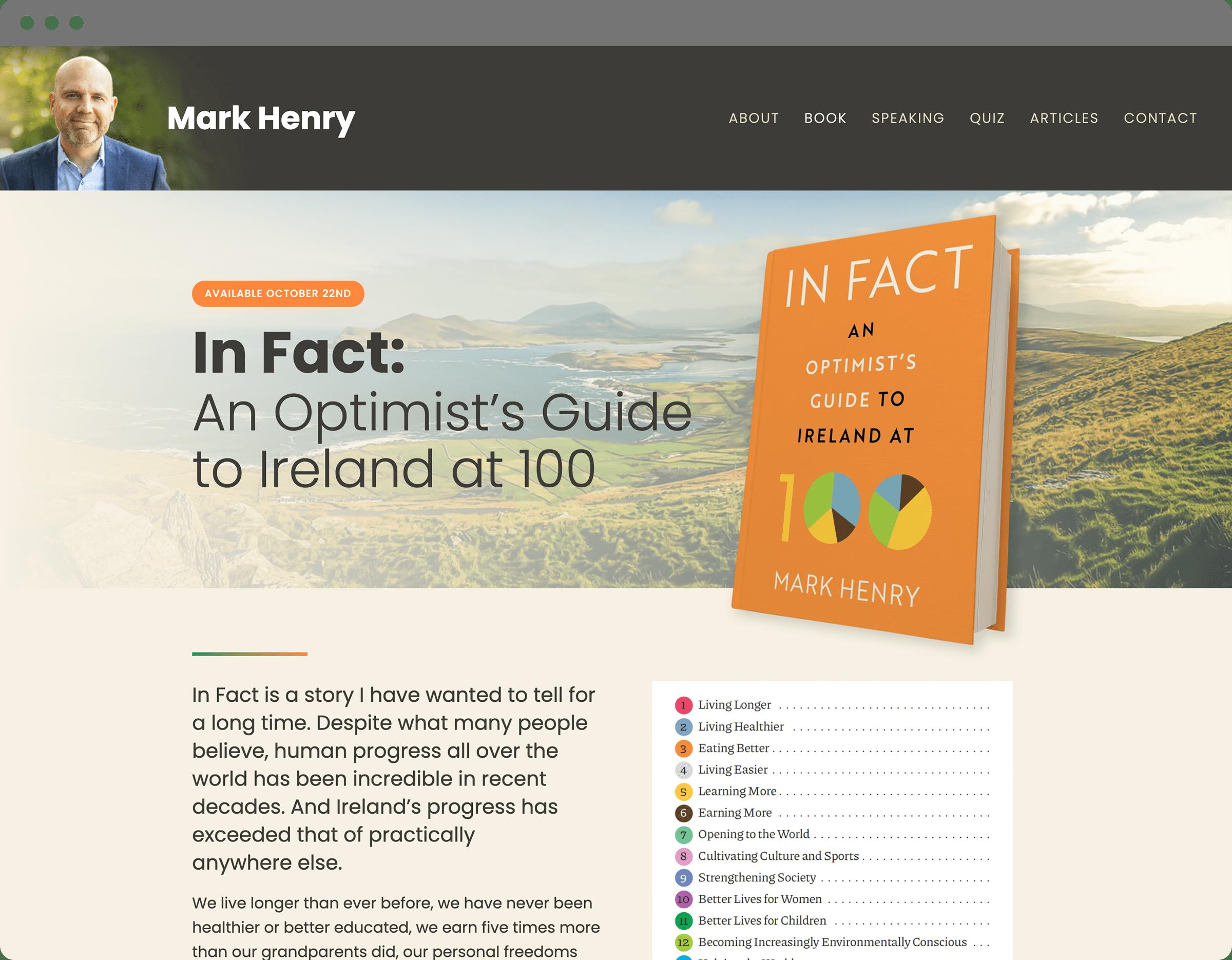 Mark Henry website book page