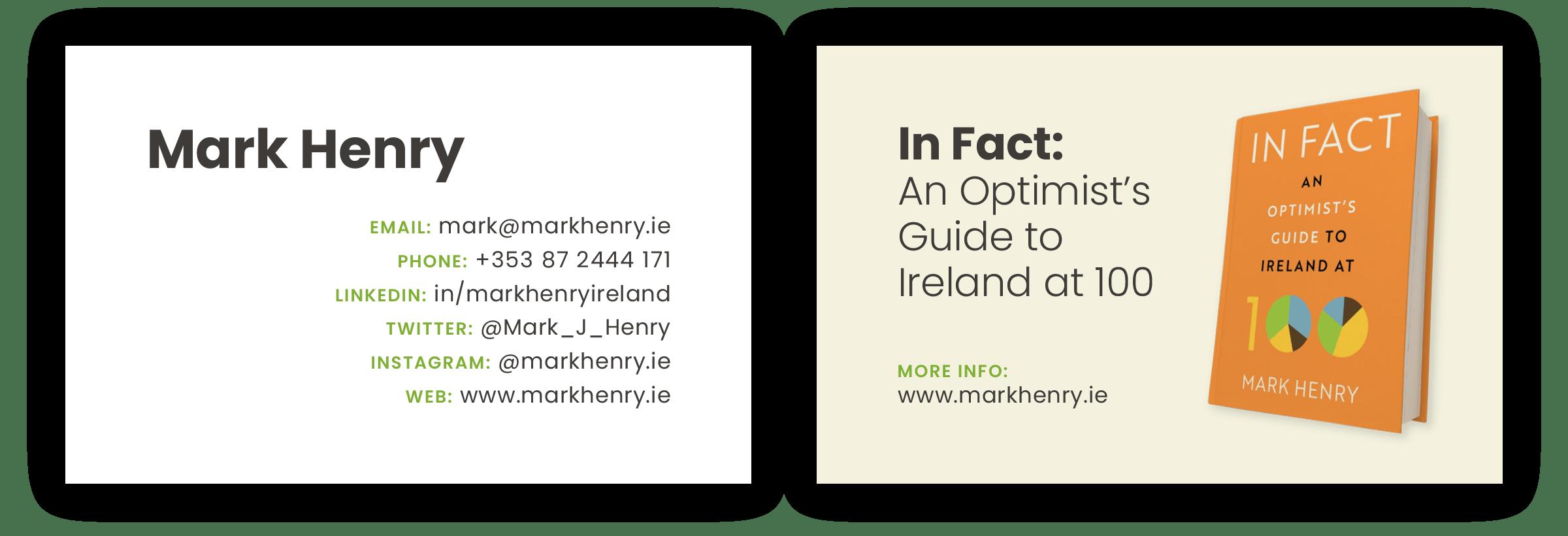 Mark Henry business card