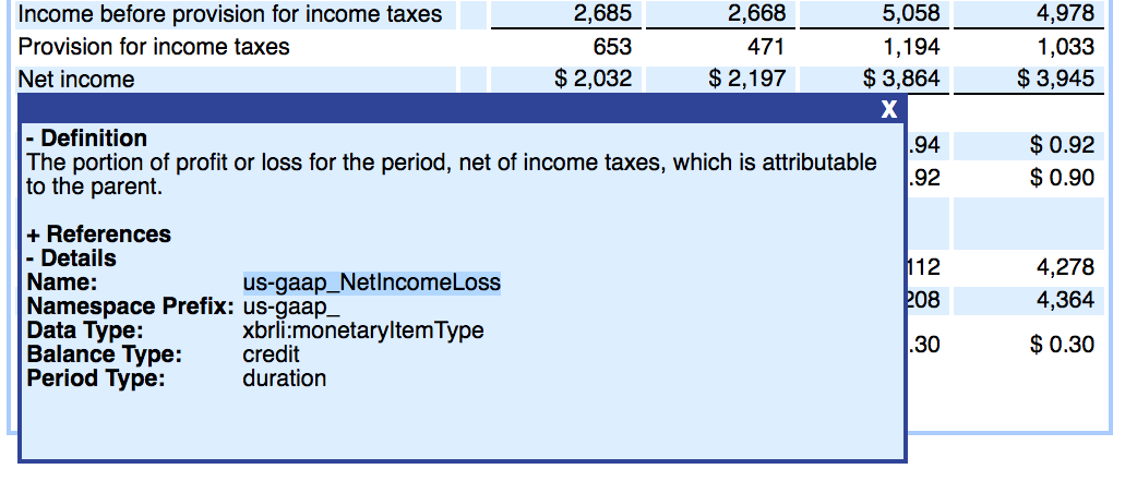 "ORCL XBRL Tag for ""Net Income"" on the 2013 10-k"